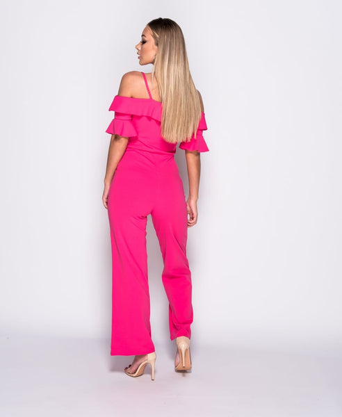COLD SHOULDER (FUSHIA) - Karma Couture Boutique