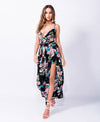 ALL FOR ONE FLORAL ROMPER/DRESS - Karma Couture Boutique