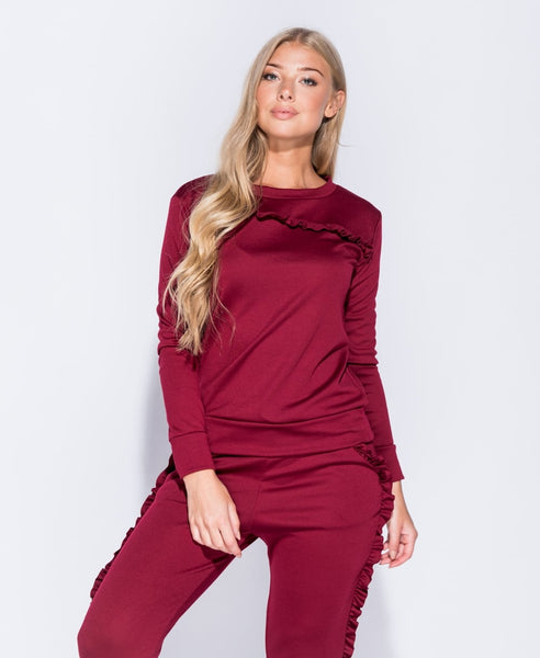 FRILL OF IT (BURGUNDY)