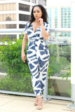 GOING DOWNTOWN (ABSTRACT PRINT JUMPSUIT) - Karma Couture Boutique
