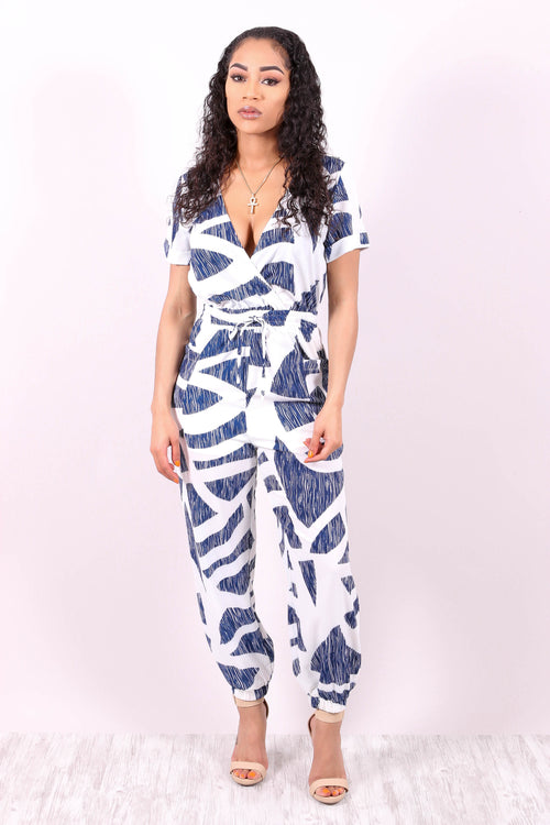 GOING DOWNTOWN (ABSTRACT PRINT JUMPSUIT)