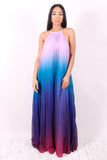 TAKE CENTER STAGE (OMBRE LAVENDER/BLUE/PURPLE/FUSHIA FADE MAXI ) - Karma Couture Boutique