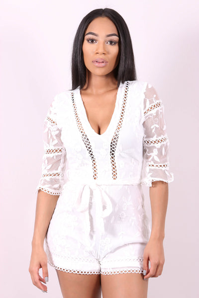 ROMPING AROUND (WHITE) - Karma Couture Boutique