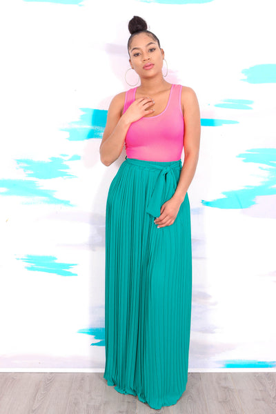 YOU COME PLEAT ME (TEAL)