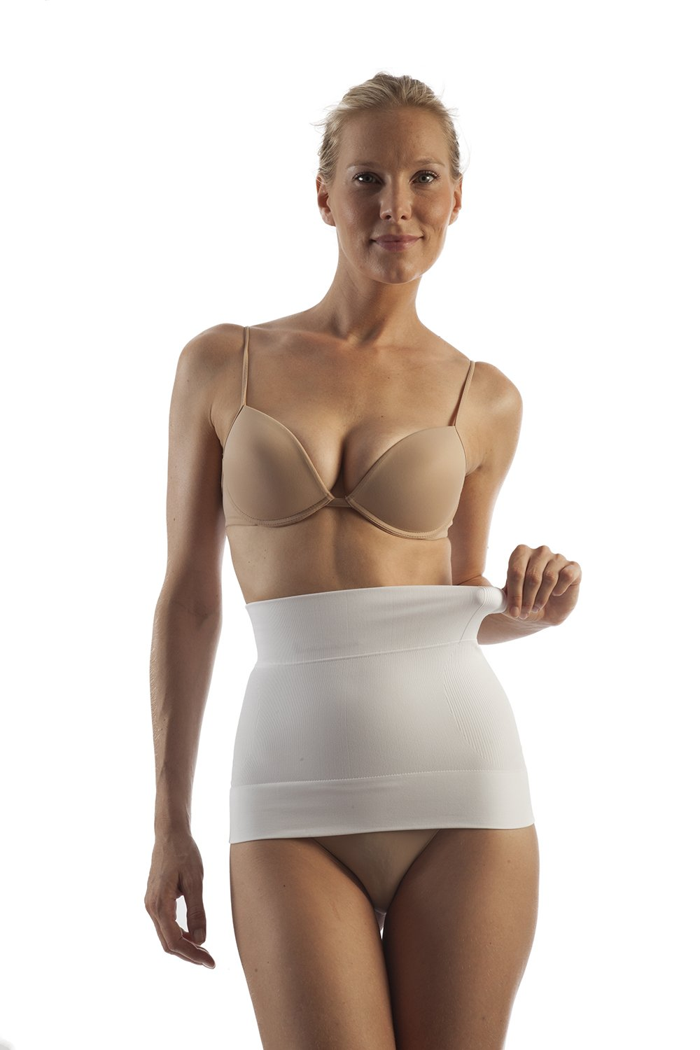 GABRIALLA Seamless Body Shaping Abdominal Support Binder, Milk Protein Fiber (BSM-705) - Gabrialla