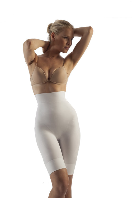 Body Shaping Shorts - High Waist Seamless, Milk Protein Fiber (BSM-715) - Gabrialla