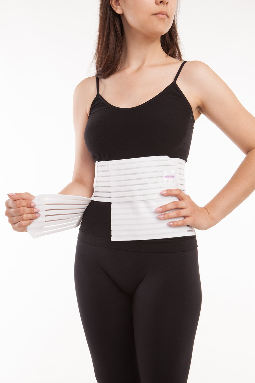 Abdominal Binder - Breathable Light Support 8 inches (AB-208) - Gabrialla