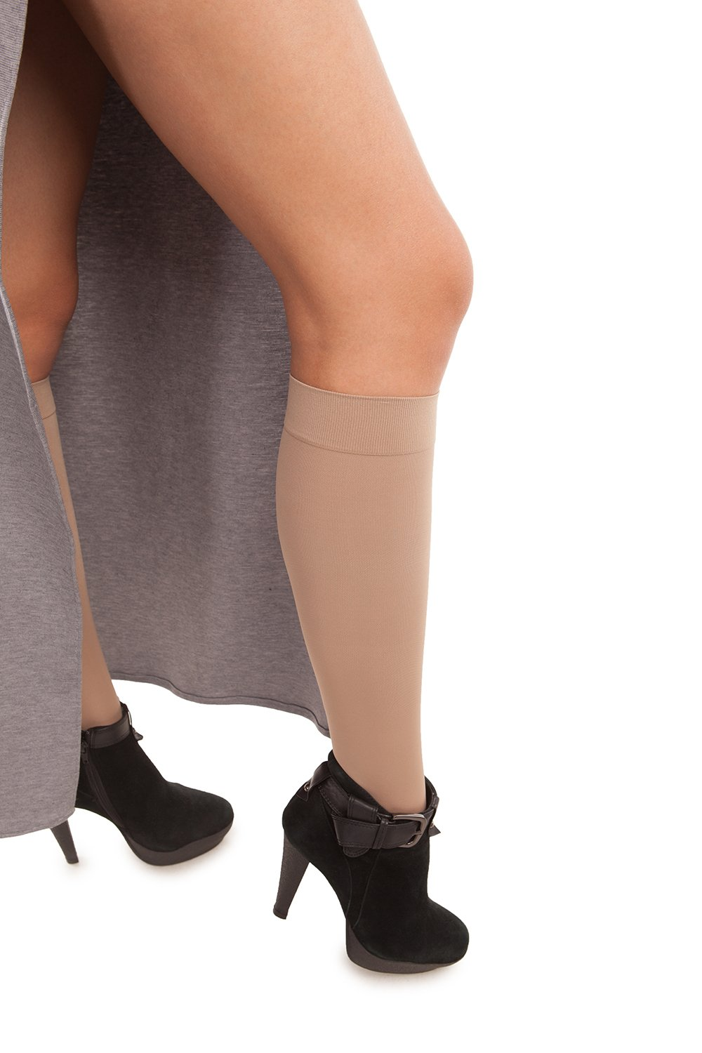 Microfiber Knee Highs - Strong Compression - 25 to 35 mmHg - Gabrialla