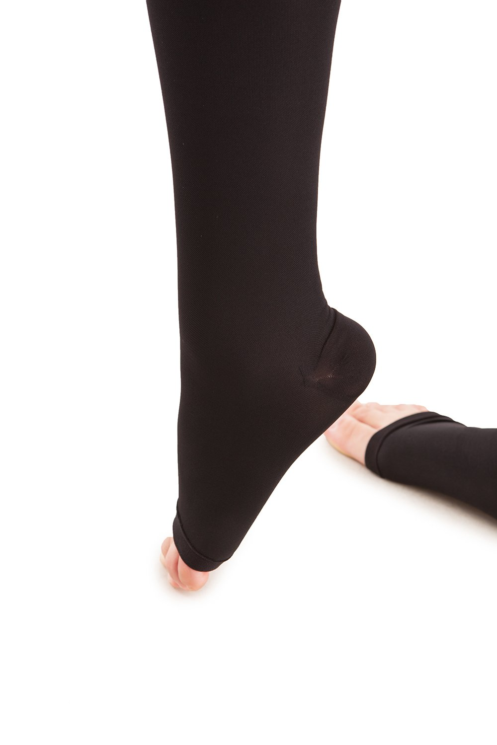 Microfiber Open Toe Knee Highs - Strong Compression - 25 to 35 mmHg - Gabrialla