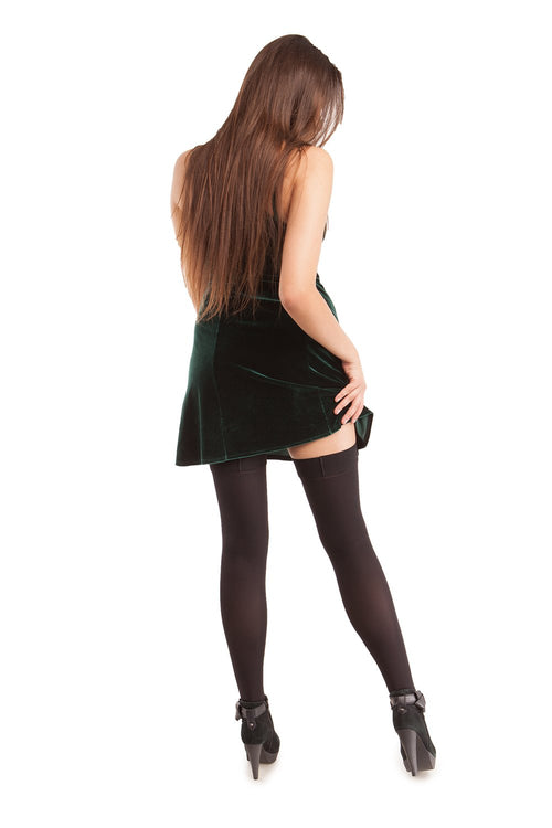 Microfiber Open Toe Thigh Highs - Strong Compression - Gabrialla