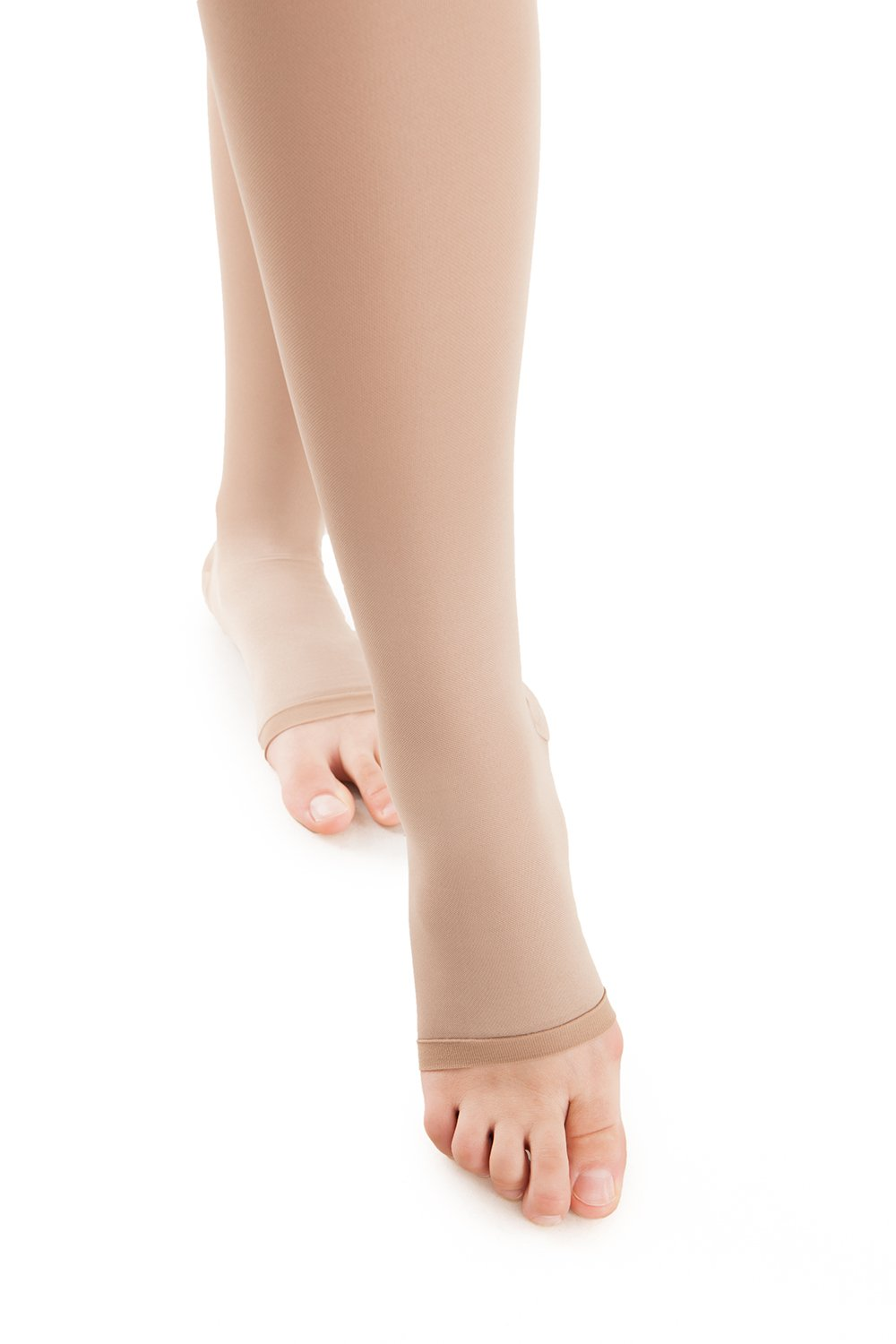 Microfiber Open Toe Thigh Highs - Graduated Strong Compression - 25 to 35 mmHG (H-306(O)) - Gabrialla
