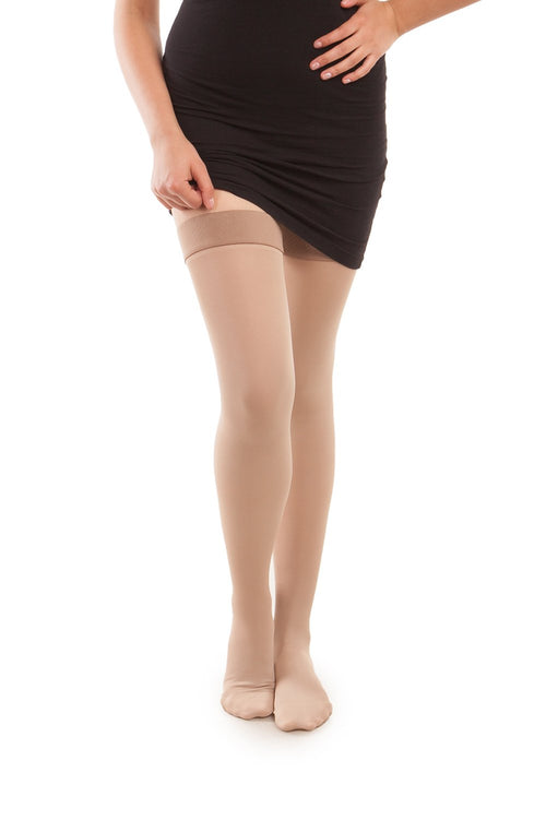 Microfiber Thigh Highs - Strong Compression - Gabrialla