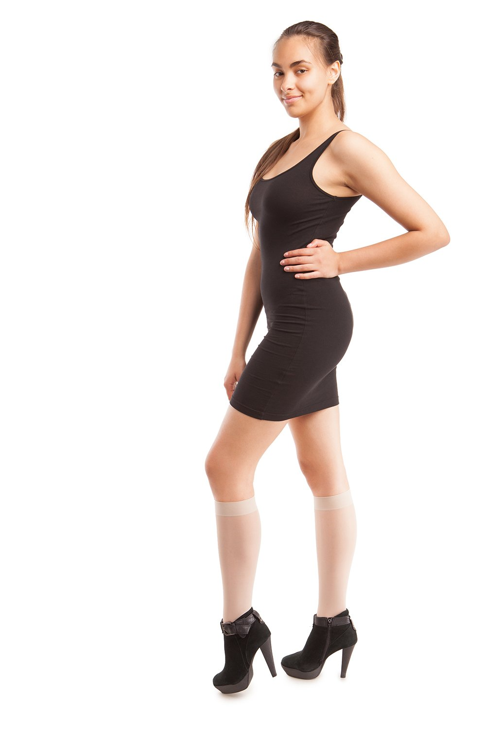 a0f528cc0 Compression Stockings - Sheer Knee Highs - Firm Compression - 23 to 30 mmHG  - Gabrialla
