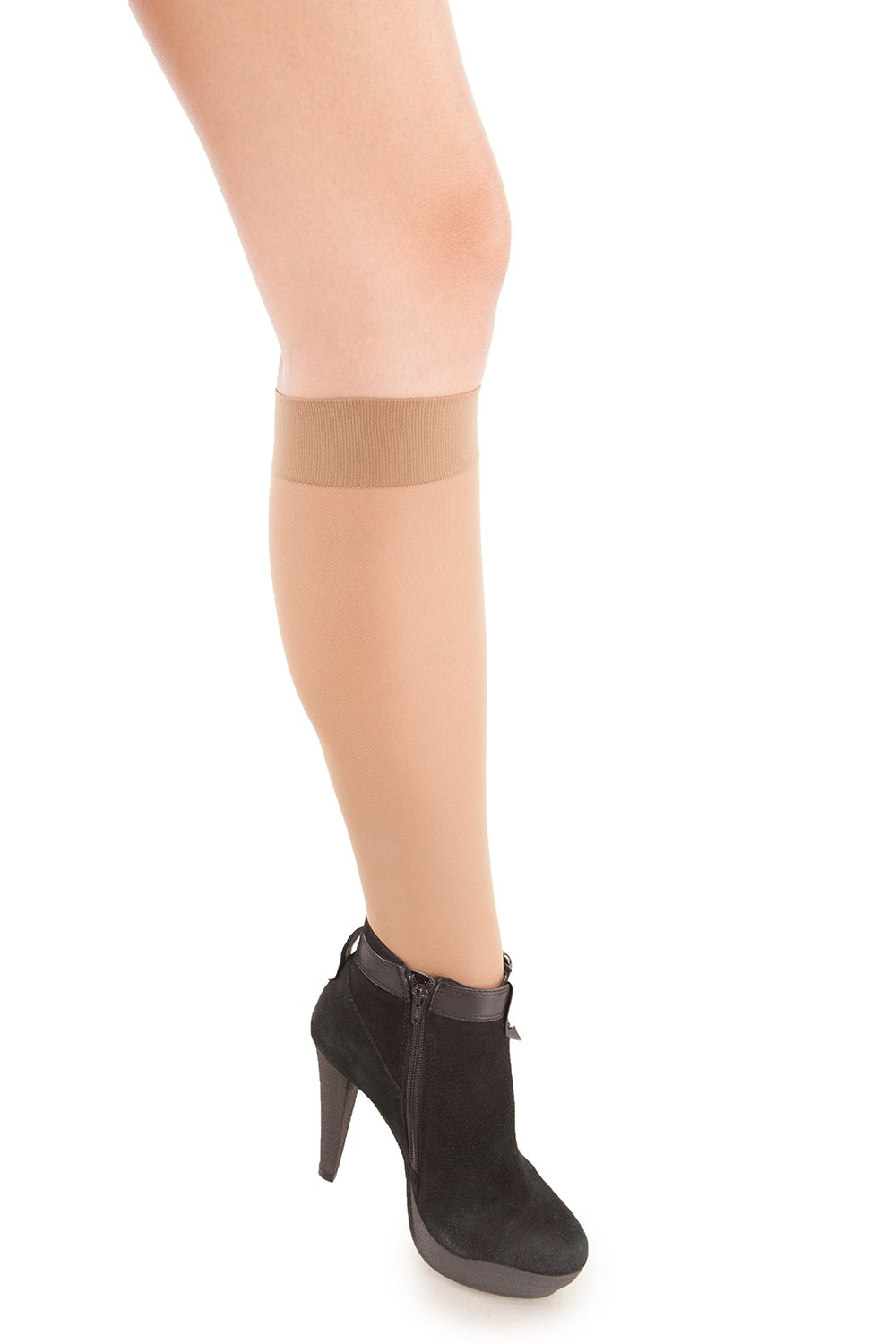 Sheer Knee Highs - Medium Compression - 20 to 22 mmHG - Gabrialla