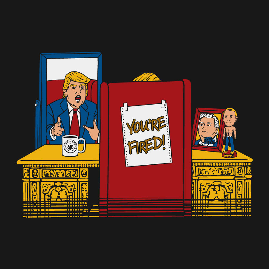 trump donald youre fired putin bobblehead tee shirt novelty parody apprentice