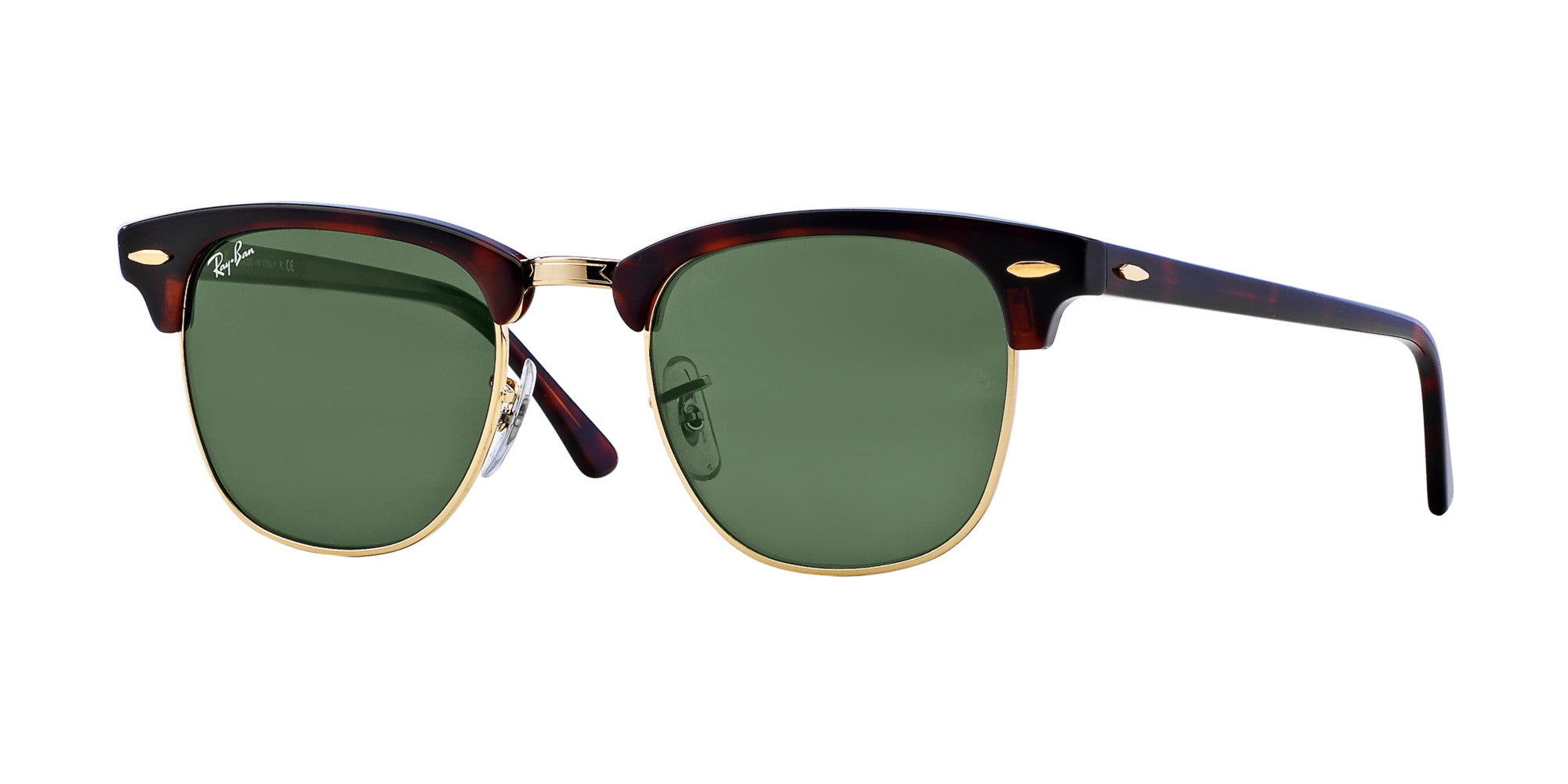 28ffd528ee8e7 Ray-Ban CLUBMASTER - SHINY RED HAVANA Frame GREEN FLASH GRADIENT Lenses  51mm Non