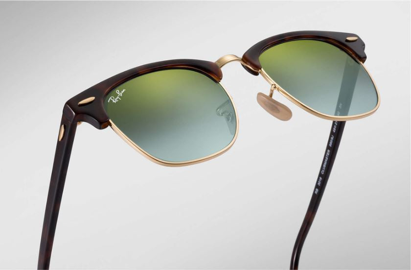 e24a8b5f09a82 ... Ray-Ban CLUBMASTER - SHINY RED HAVANA Frame GREEN FLASH GRADIENT Lenses  51mm Non ...