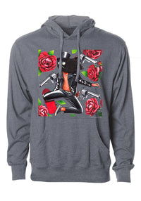 """Gats and Flowers"" Graphic Hoodie"