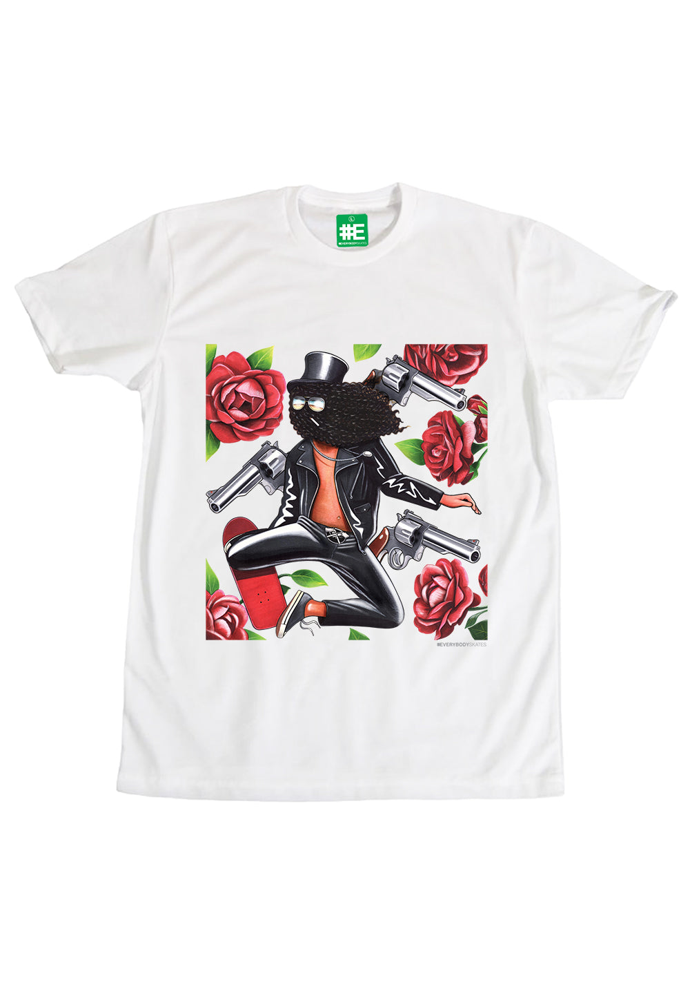 """Gats and Flowers"" Graphic T-shirt"