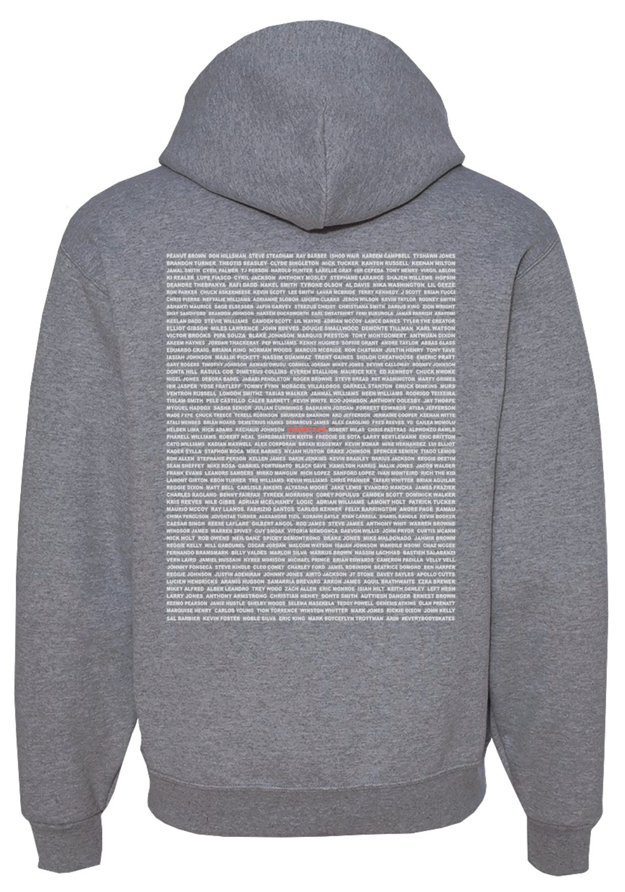 """Thank You"" 2021 Graphic Hoodie (back print)"