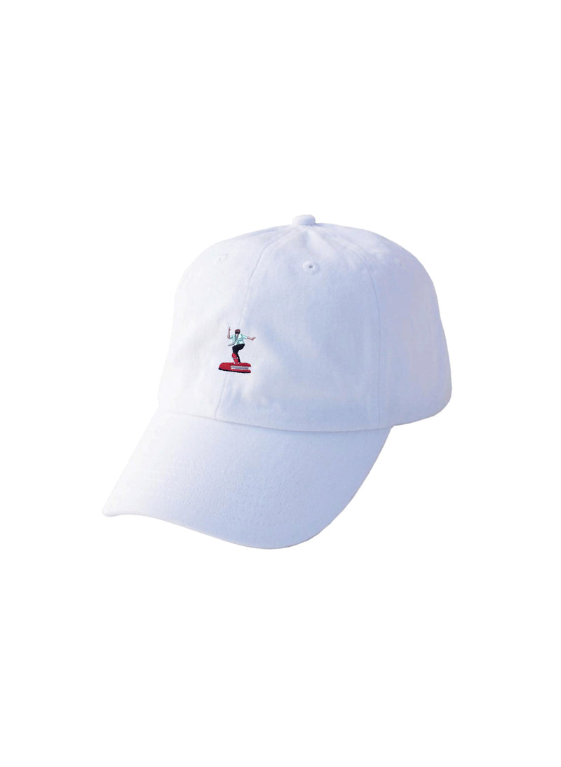 Work Sucks Embroidered Dad Hat - White