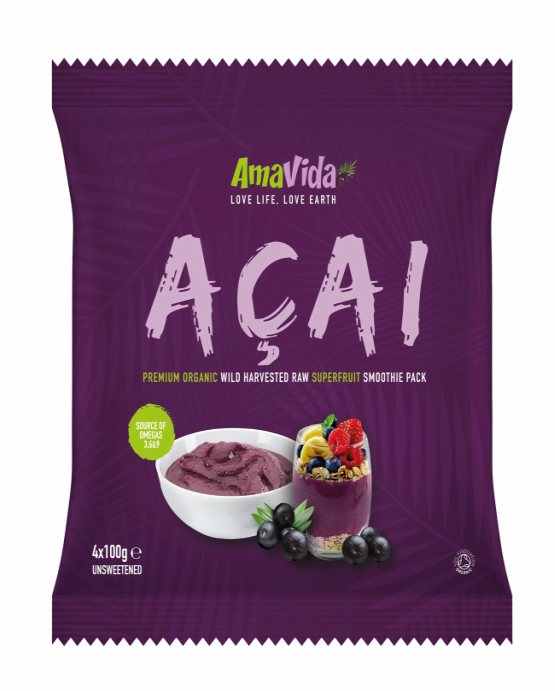 organic acai frozen smoothie pack 400g
