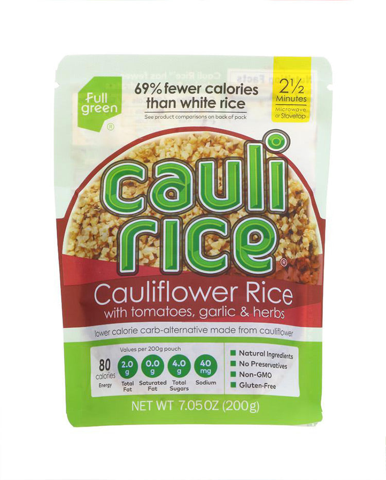 low carbohydrate cauliflower rice alternative