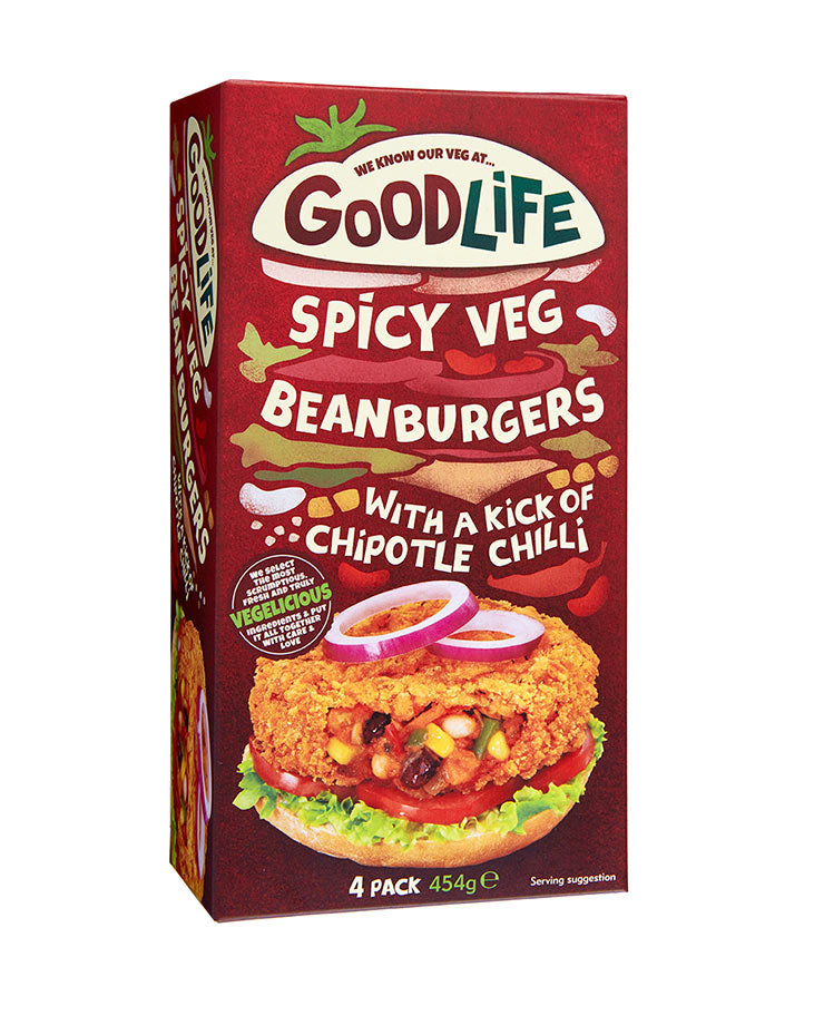 Spicy Bean Burger 454g - 4 x pack