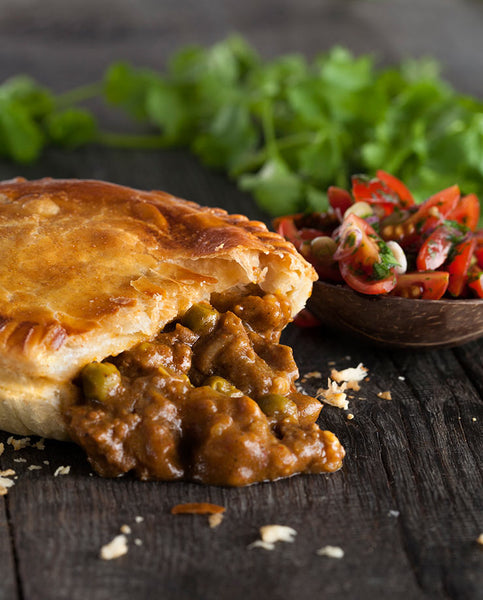 dairy free and vegan curry flavoured pie