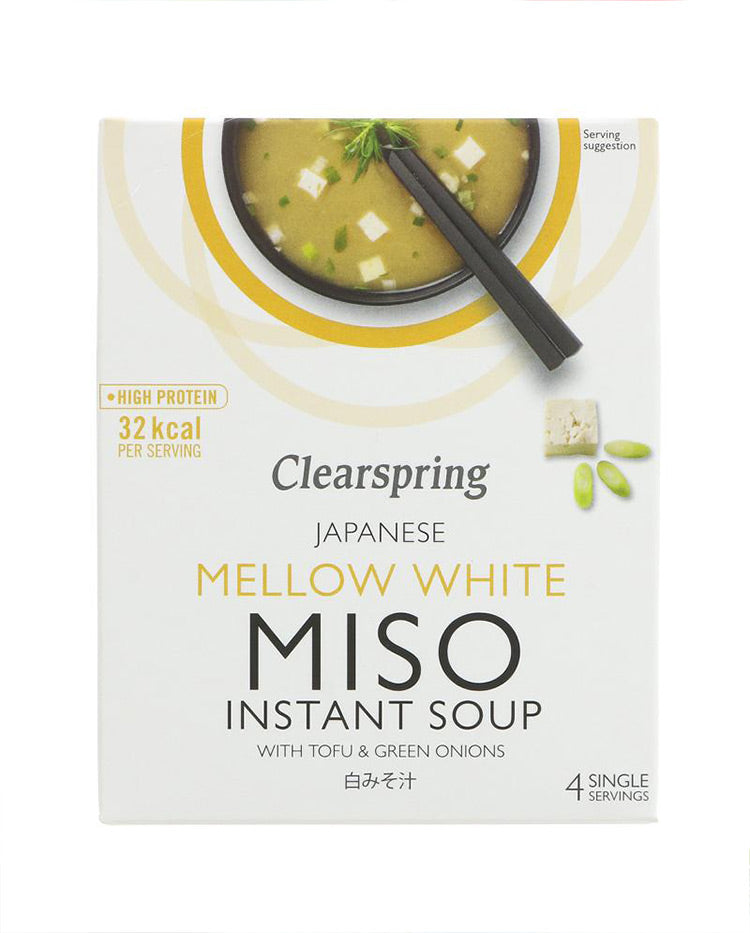 Clearspring Mellow White Miso Soup - 4 x Servings