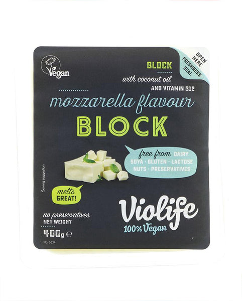 dairy free mozzarella style block of cheese 400g