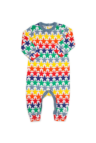 Boys&Girls printed baby romper in organic cotton.