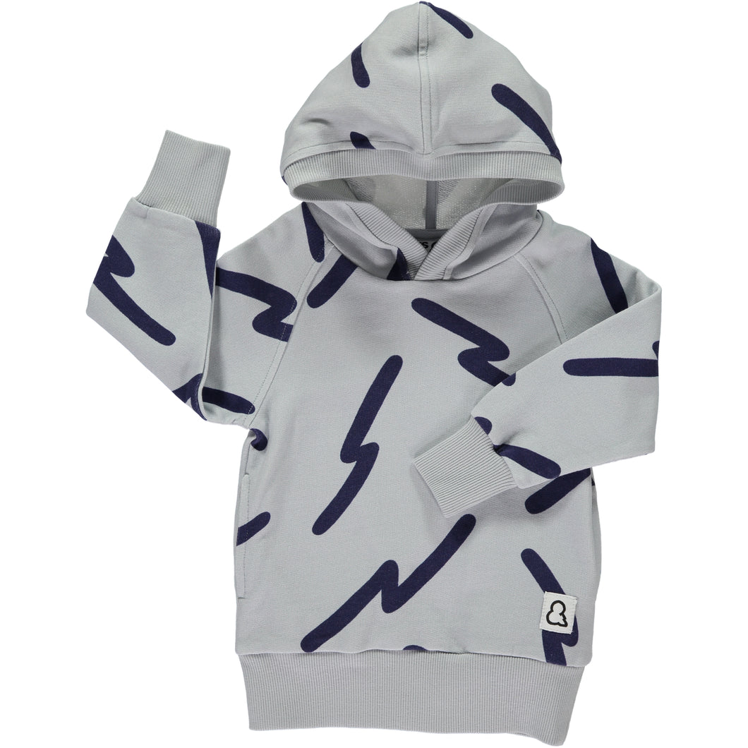 Boys&Girls printed hooded top in organic cotton.