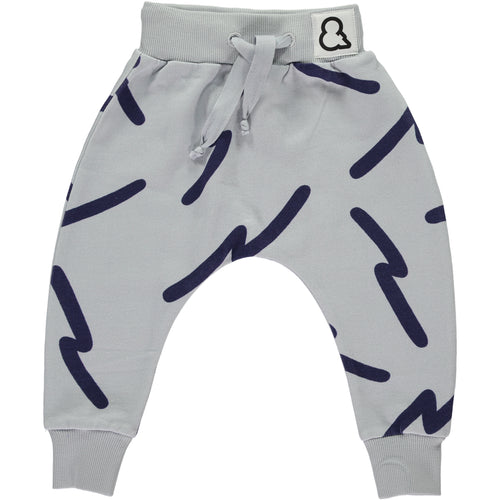 Boys&Girls printed baggy pants in organic cotton.