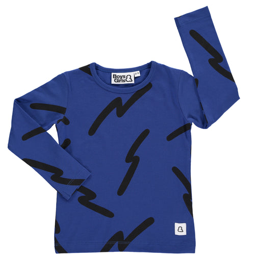 Boys&Girls long sleeve printed top in organic cotton