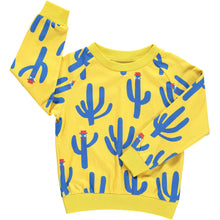 Boys&Girls kids unisex cactus print crew top in organic cotton