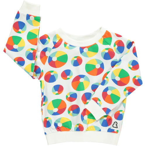 Boys&Girls unisex kids bouncy print crew top in organic cotton