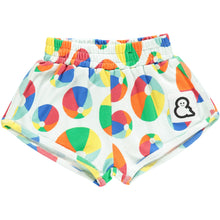 Boys&Girls kids unisex bouncy print shorts in organic cotton