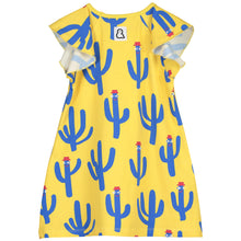 Boys&Girls kids cactus print dress in organic cotton back view
