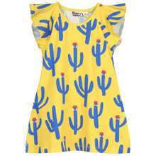 Boys&Girls kids cactus print dress in organic cotton