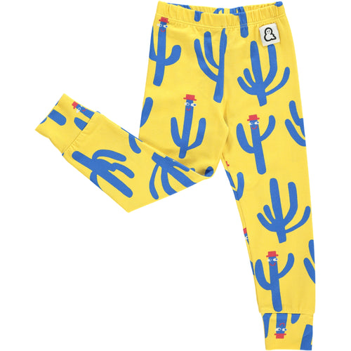 Boys&Girls kids unisex cactus print leggings in organic cotton