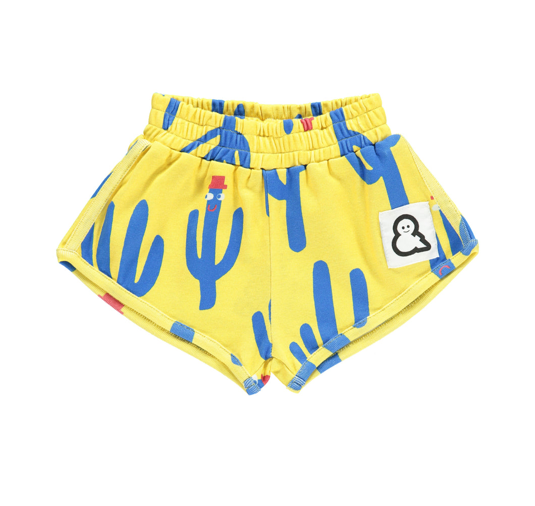 Boys&Girls unisex kids cactus print shorts in organic cotton