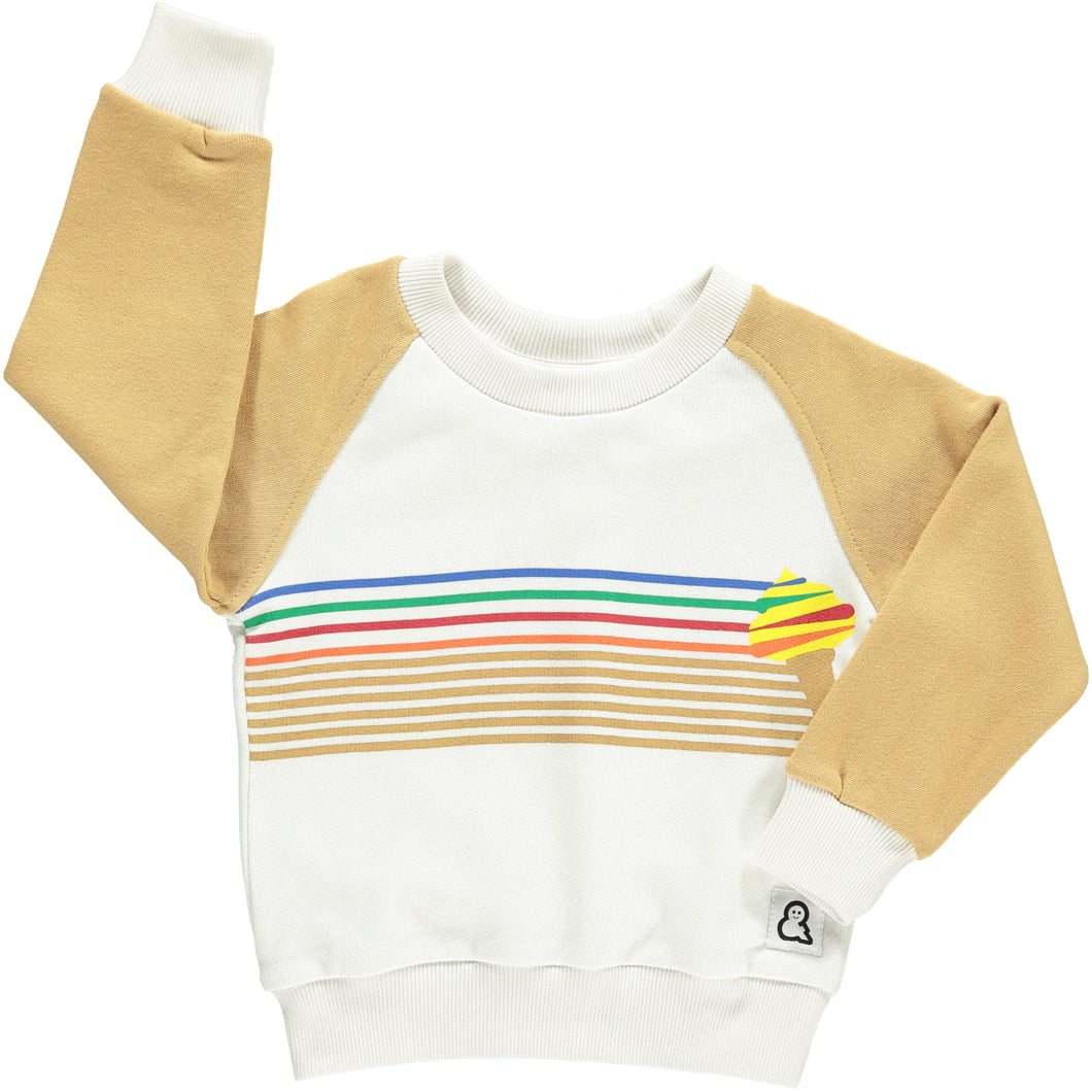 Boys&Girls unisex kids ice-cream print sweat crew in organic cotton