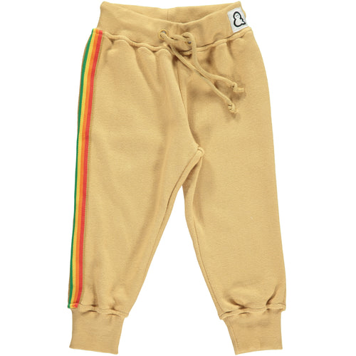 Boys&Girls unisex kids rainbow stripe track pants in organic cotton