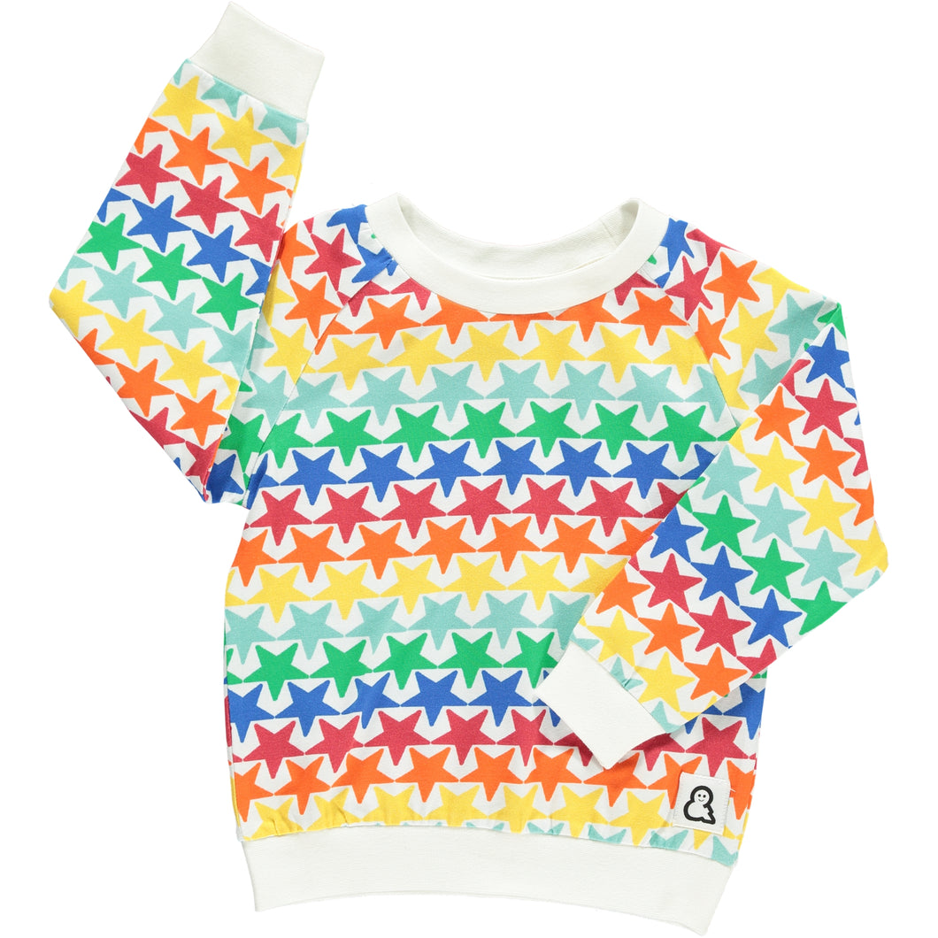Boys&Girls unisex kids stars print top in organic cotton
