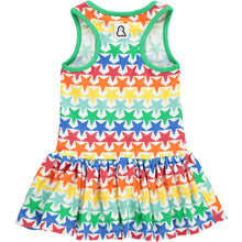 Boys&Girls kids star print dress in organic cotton back view