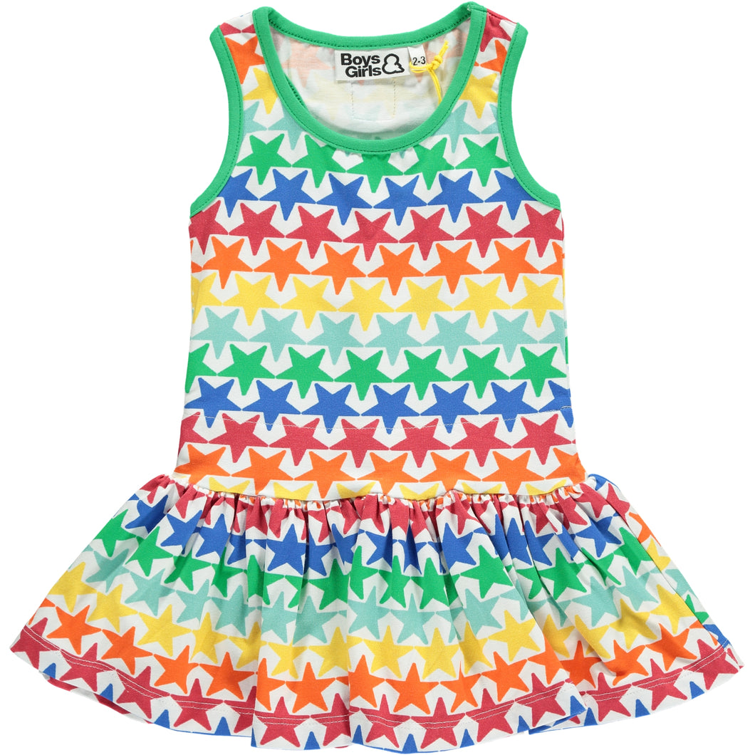 Boys&Girls kids star print dress in organic cotton