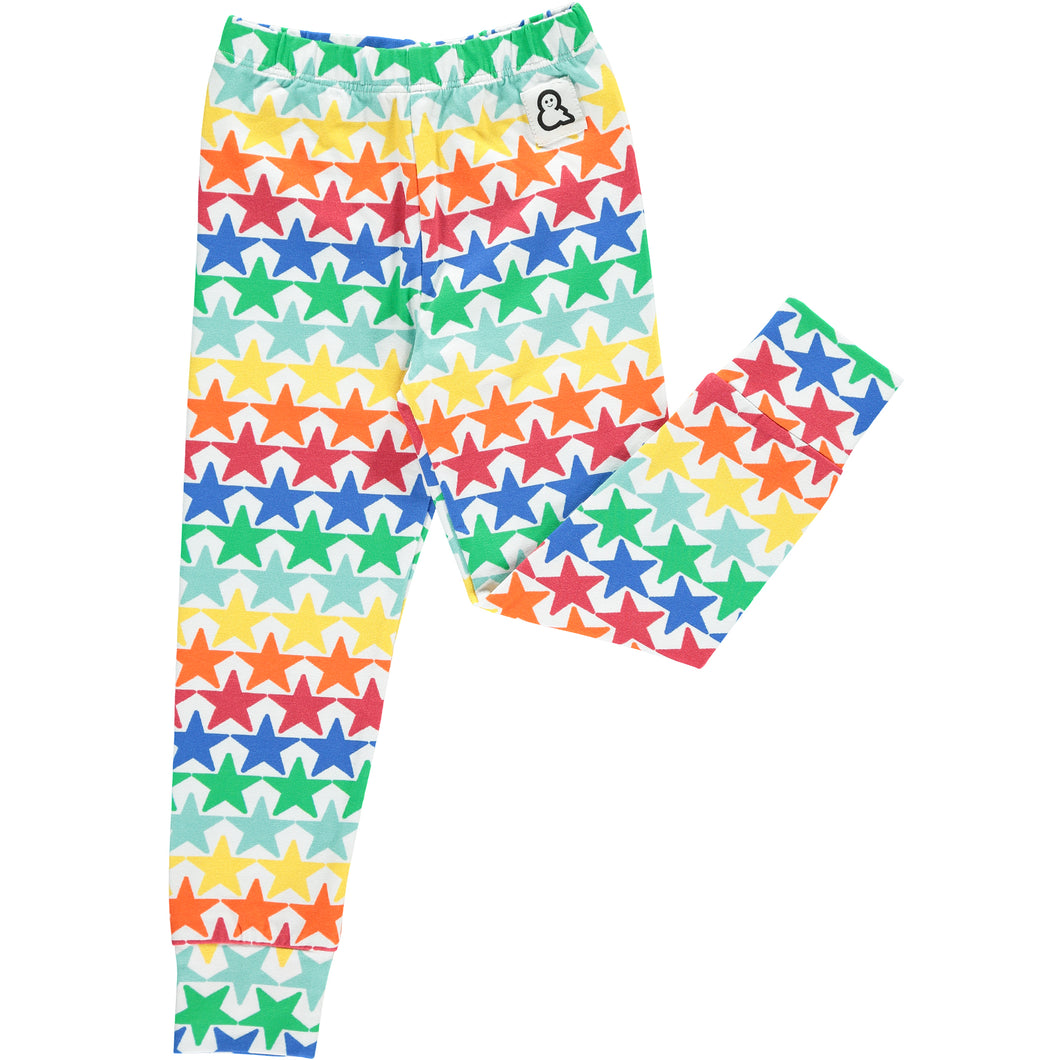 Boys&Girls unisex kids star print leggings in organic cotton