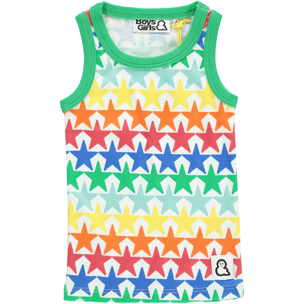 Boys&Girls unisex kids star print vest in organic cotton
