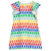 Boys&Girls kids lolly pop print dress in organic cotton back view